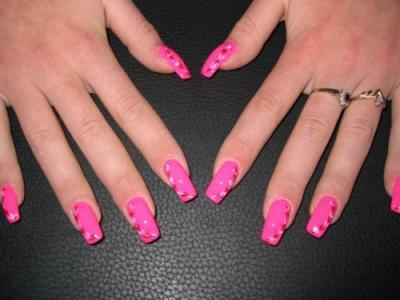 Как накрасить ногти с рисунком цветы