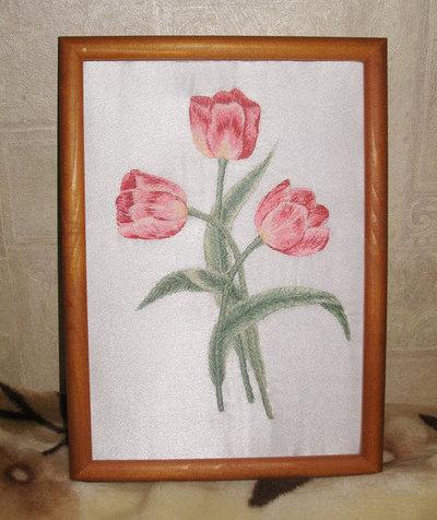 Нарисованная открытка для мамы своими руками