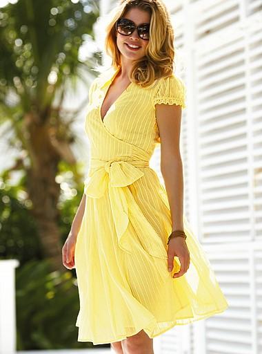 Платья с запахом летние