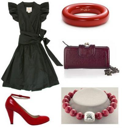 аксессуар для черного платья и бордовым сапогам билеты