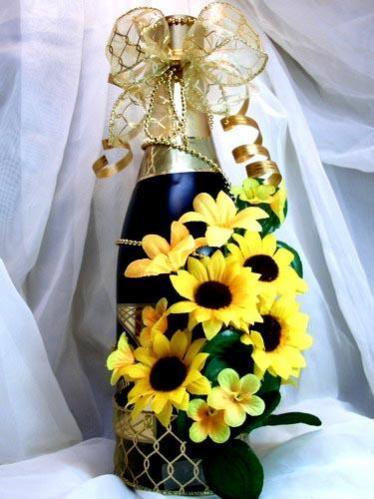 Украшение бутылок шампанского своими руками на день рождения