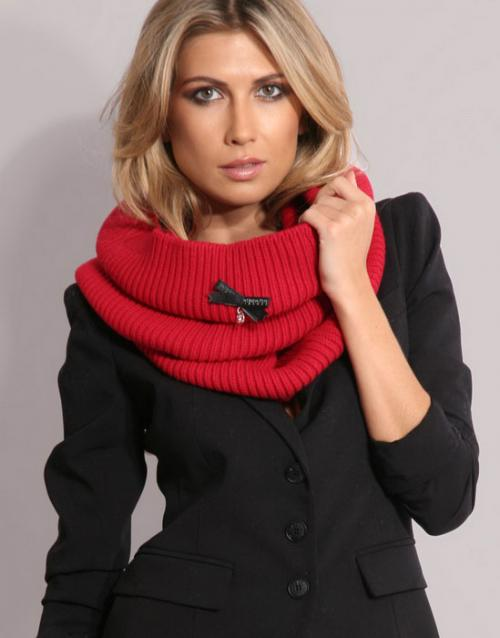Как связать шарф хомут схема вязаного.