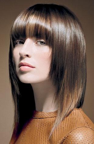 Фото красивых стрижек для средних волос