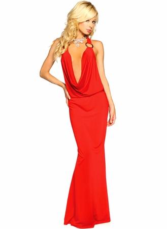 Вечернее платье красное с открытой спиной 6057-3.