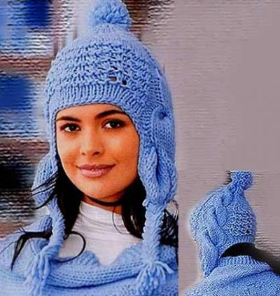 и схема вязания детской шапочки с