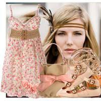 Сочетание романтического и стиля кантри в одежде.