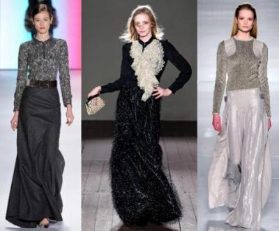 Какие юбки популярны в офисной моде для женщин в 2012 году?
