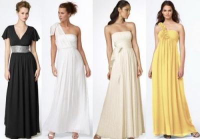 платья из шифона длинные в греческом стиле на выпускной.