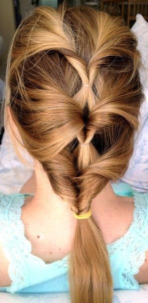Прическа для девочки на длинные волосы быстро