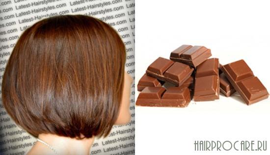 Фото цвета молочный шоколад на волосах