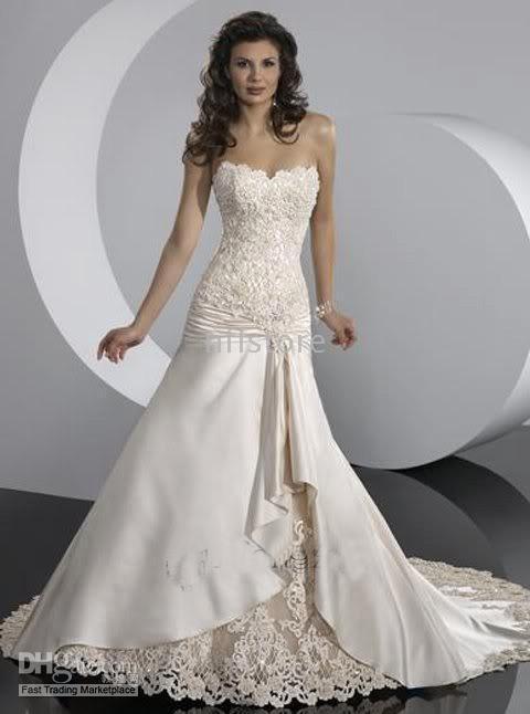 Кружевные свадебные платья - это безупречный изыск белоснежных и