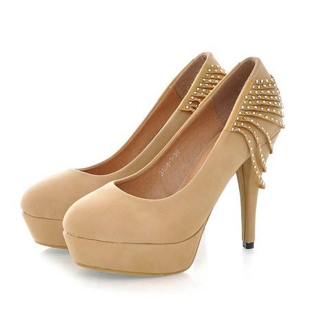 Бежевые Туфли На Каблуке Купить