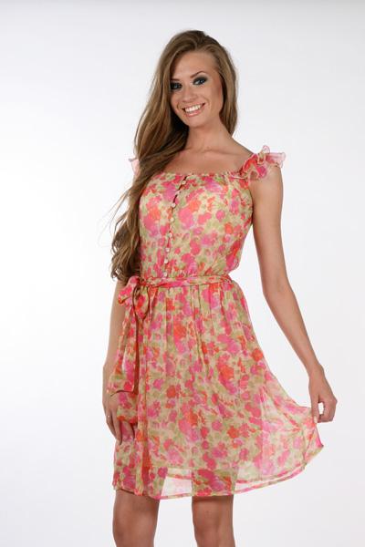 Летнее шифоновое платье выкройка