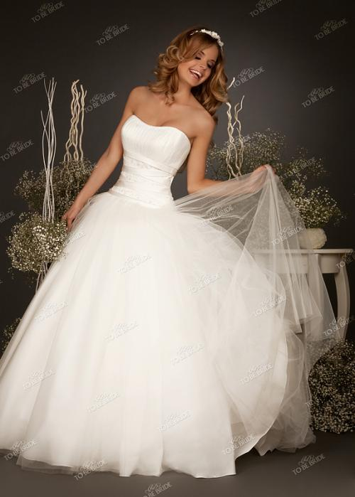Свадебное платье Salu - цена 25900 рублей, Пышное (принцесса), цвет белый