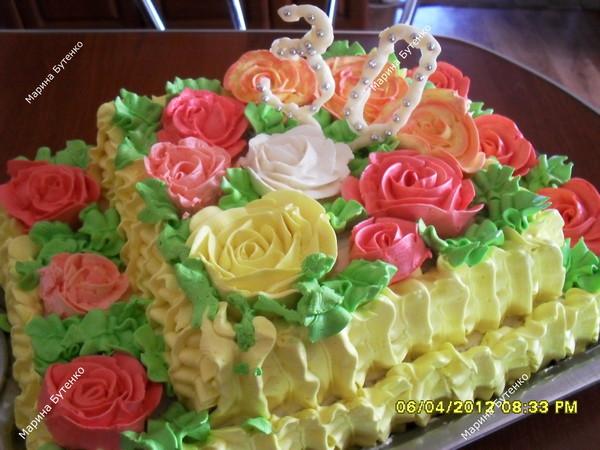 фото с масляныи кремом тортов