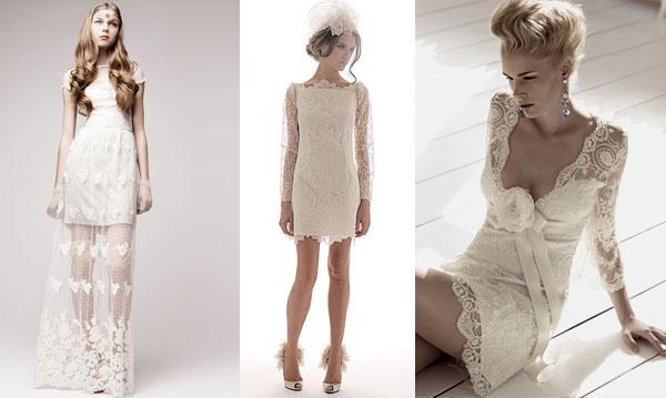Короткое Кружевное Свадебное Платье - tailoringcovering