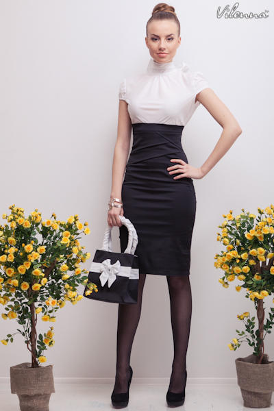 Платье Белый Верх Черный Низ Купить