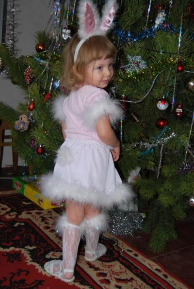 Новогодний костюм зайчика своими руками с фото