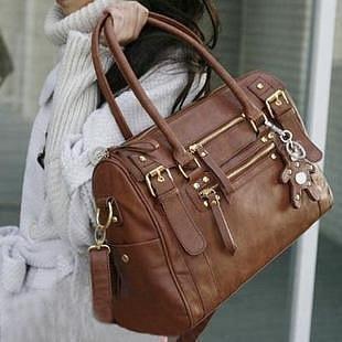 сумка белая с коричневым - Сумки.