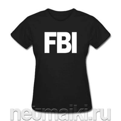 купить Футболка с надписью FBI.