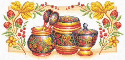 """Набор для вышивания  """"Хохлома """", PANNA НХ-311 купить в санкт петербурге Шале, Aida 14 (К04."""