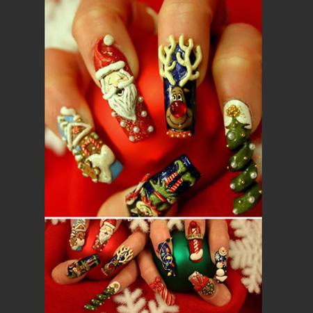 ... на ногтях кейсы для мастеров маникюра.