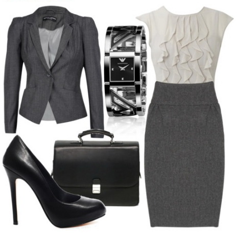Офисный стиль одежды для девушек.