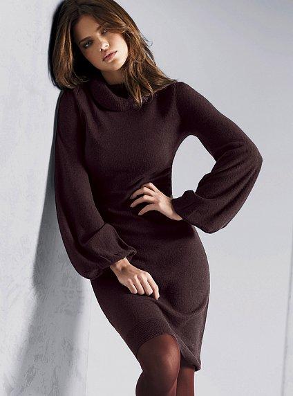 Фото моделей вязанных платьев