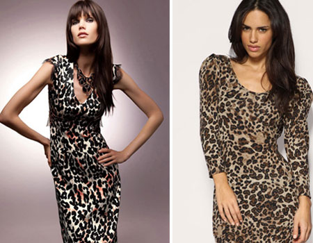Осенние леопардовые платья.
