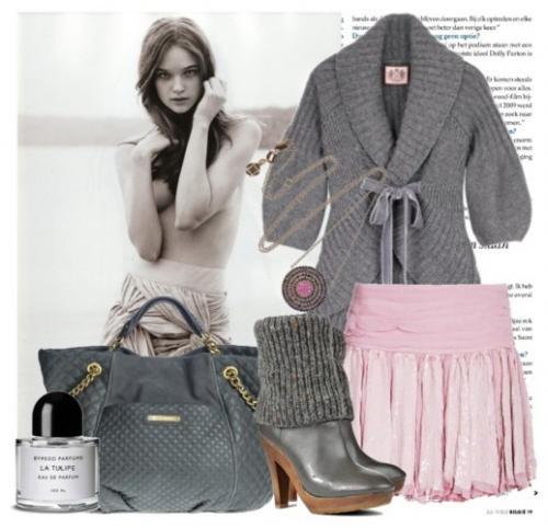 Женское вязаное пальто. Код: 92-762
