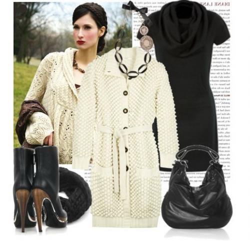 Красивый внешний вид и комфорт сделали вязаное пальто актуальным в.
