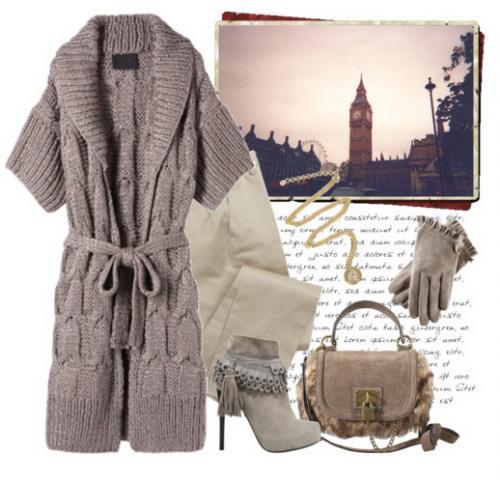 В осенне-зимней коллекции американского дизайнера Трейси Риз представлены модели вязаных пальто сочетающих в себе...