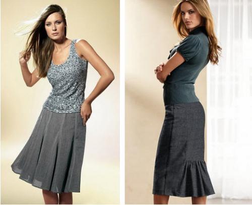 Юбка годе - это юбка, в которую для придания расширяющейся к низу.