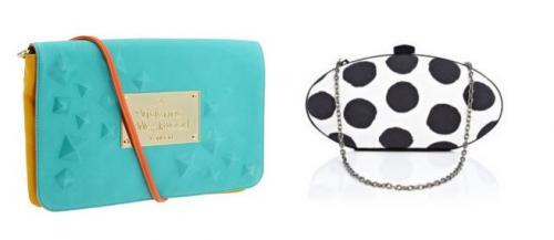 В весенне-летней коллекции Fendi были продемонстрированы разноцветные клатчи и маленькие сумочки в полоску.