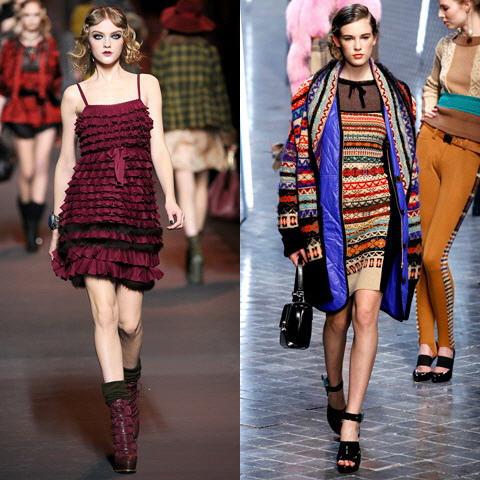 В 2012 году дизайнеры предлагают нам носить платья в стиле 60-ых годов.