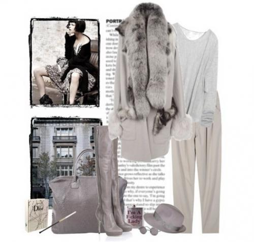 Пальто с мехом - как и с чем носить.