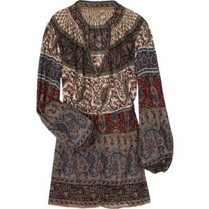 Платье с вышивкой, рубашка в народном стиле, эффетный орнамент на тунике, шаль, матрешки на рубашке.