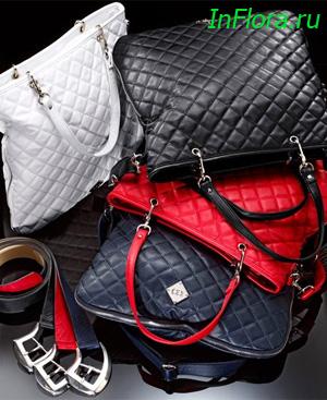 Детализированная, модная сумочка с прострочкой в виде ромбов из...