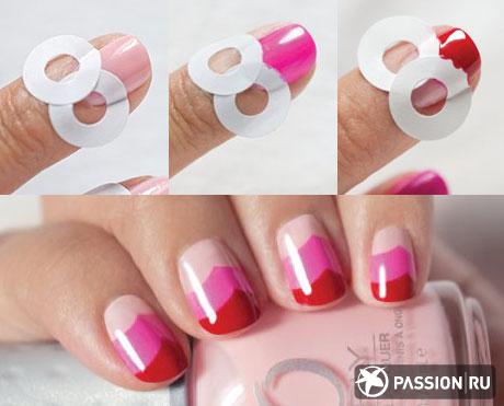 Дизайн ногтей красного с черным