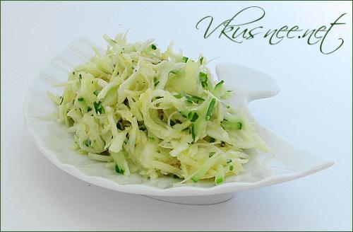 Салат из белокочанной капусты с уксусом рецепт