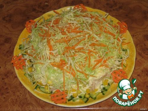 Курочка ряба салат пошаговый рецепт с