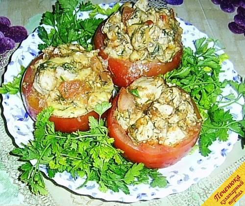 Фаршированный помидоры в духовке рецепт с пошагово