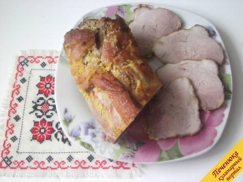 Буженина духовке пошаговый рецепт фото
