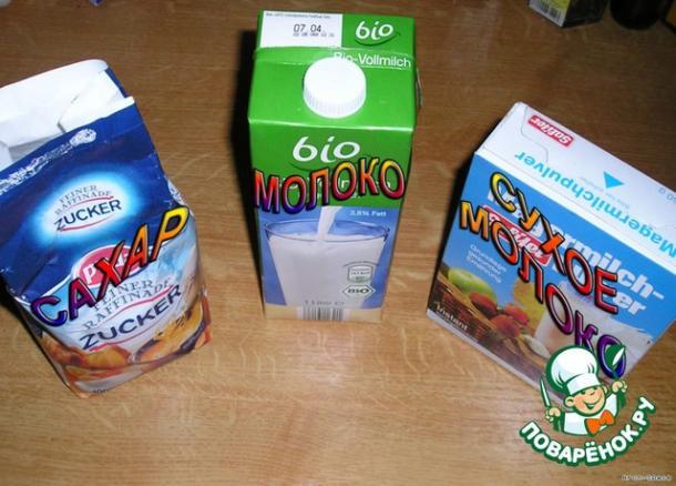 Сгущёнка в домашних условиях рецепт из сухого молока