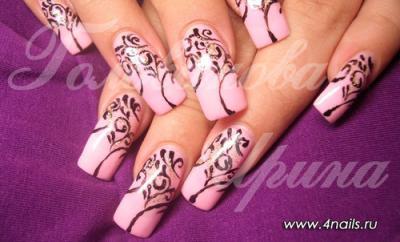 Нарощеные ногти дизайны