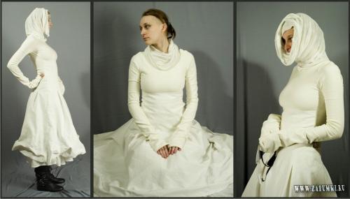 88771 байтДобавлено.  Необычное платье = Hand made одежды Hand.