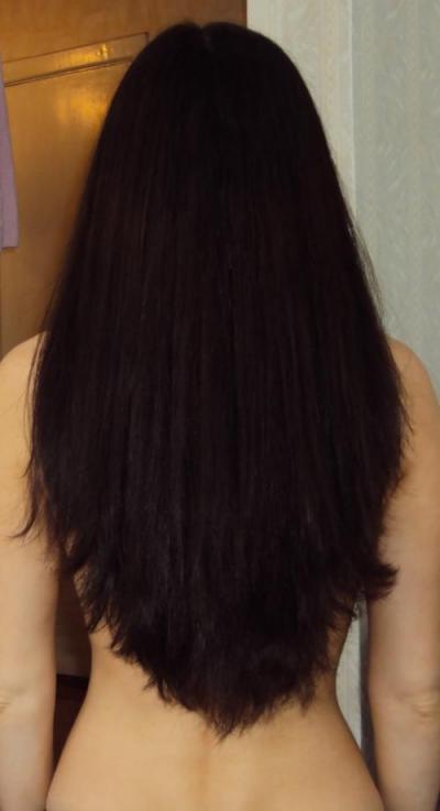 Стрижка длинных волос уголком