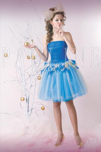Короткое пышное платье на выпускной.  Faujar.  500 pxРазмер.