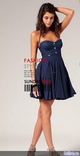 Продано Forever 21 Вязаное платье со вставками и подолом из