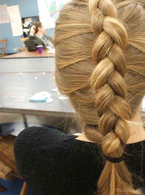 Прически французская коса